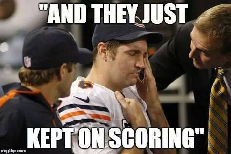 35 Best Memes Of Jay Cutler The Chicago Bears Getting Crushed By The Green Bay Packers Sportige Green Bay Packers Packers Vs Bears Nfl Funny