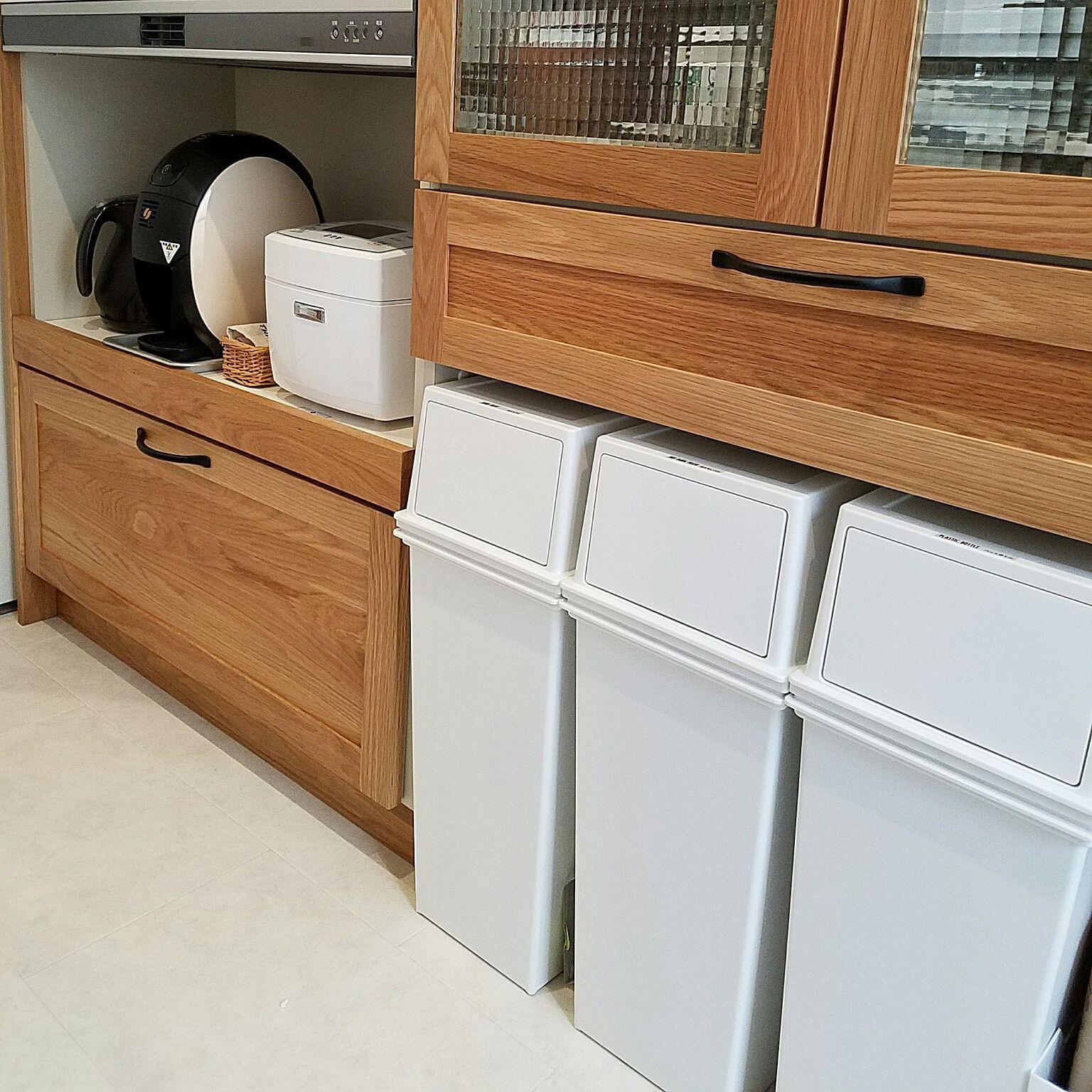 キッチン Woodone ウッドワン ゴミ箱のインテリア実例 2017 03 21 12 43 13 Roomclip ルームクリップ ウッドワン キッチン ゴミ箱 収納 ゴミ箱 キッチン