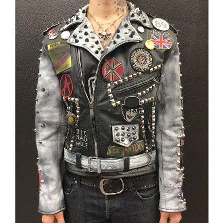 FSLA Rock n Roll Swindle Punk Leather Jacket