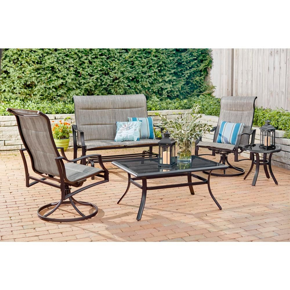 Hampton Bay Statesville Pewter 5-Piece Aluminum and Steel ... on home depot aluminum patio furniture, home depot wrought iron patio set, clearance lowe patio outdoor furniture, home depot patio umbrella clearance, home depot patio cushions, home depot patio furniture swing, home depot decks and patios, home depot patio furniture sets, hampton bay white wicker furniture, at home depot patio furniture, outdoor patio bar sets furniture, home depot patio sets sale, home depot patio furniture clearance closeout, home depot adirondack patio chairs, home depot white patio furniture, home depot patio tables, home depot thomasville patio furniture, home depot 5 piece outdoor dining set, hampton bay outdoor furniture, home depot patio swings with canopy,