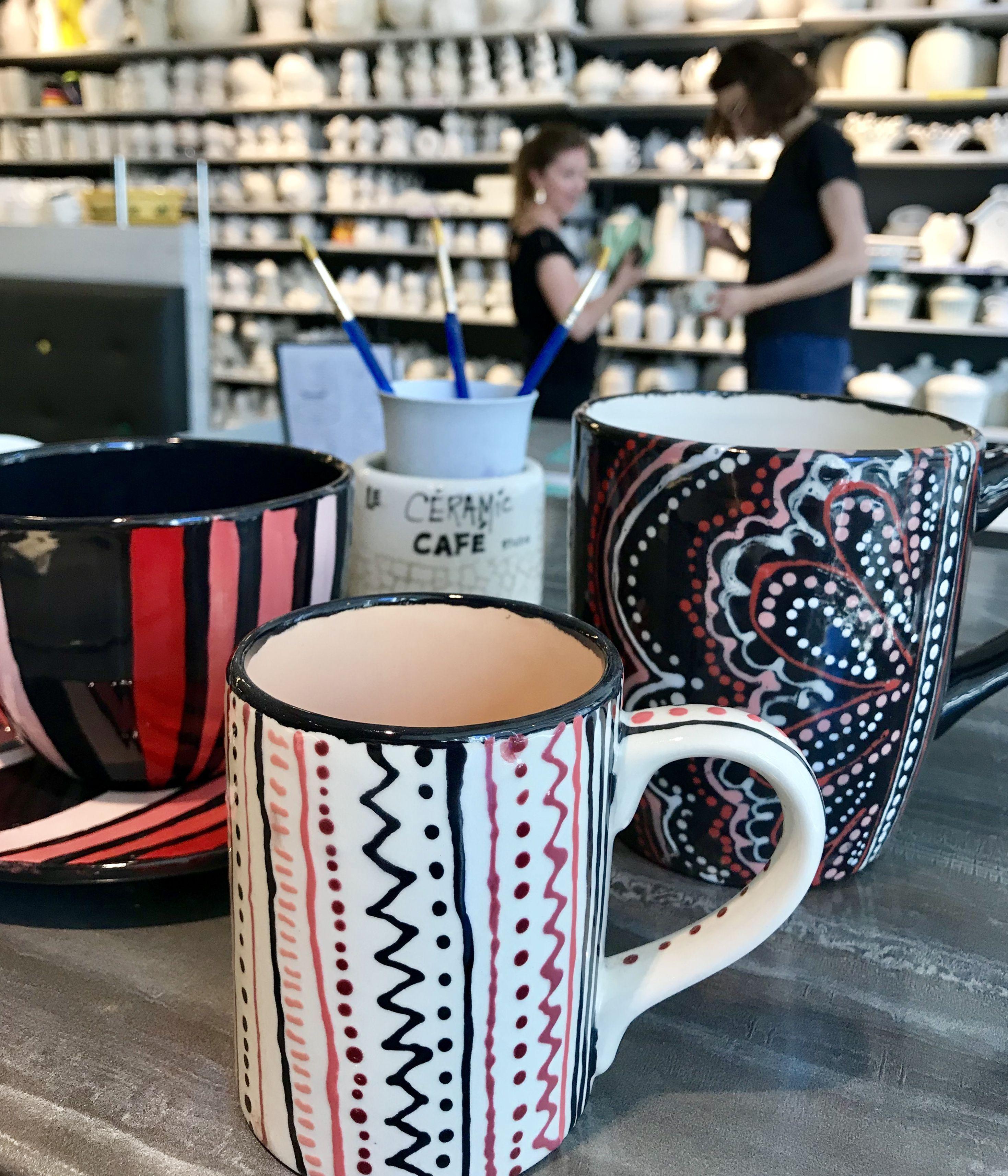 T1 tasse à café ceramiccafe ceramic cafe handpainted