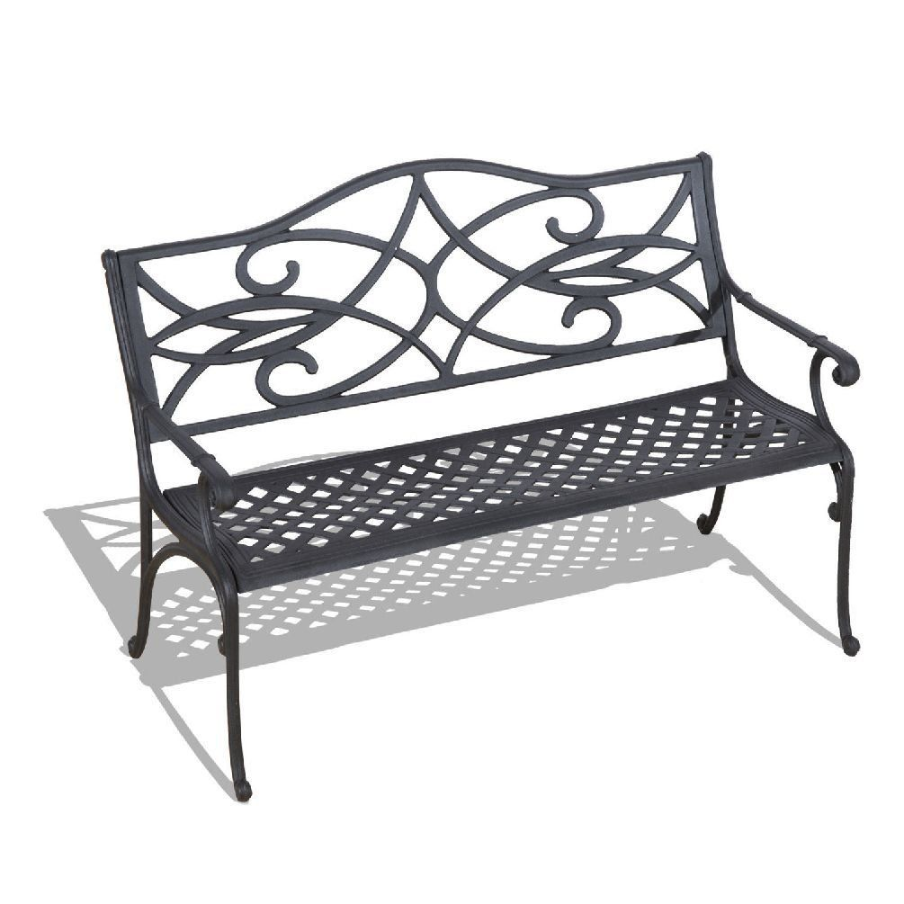 40¡å Garden Bench Cast Aluminum Patio Chair Outdoor Furniture Deck Porch  Yard. Seat