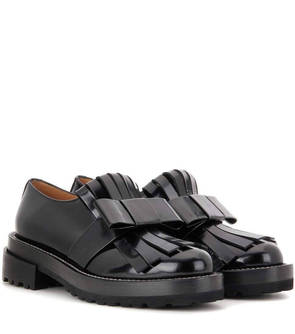 Classic Fashion Marni Black Polished leather Brogues