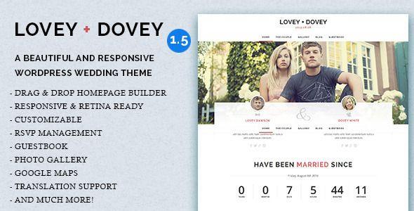 Lovey Dovey - Responsive WordPress Wedding Theme #weddingtheme #wordpress #webdesign