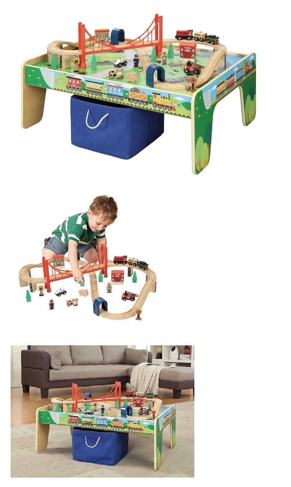 Train Sets 113519 Thomas Train Table Set For Toddlers Young Children Kids Wooden Play Set  sc 1 st  Pinterest & Train Sets 113519: Thomas Train Table Set For Toddlers Young ...