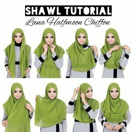 Cara Pemakaian Tudung Secara Ringkas Dan Mudah Gaya Hijab Kursus Hijab Kerudung