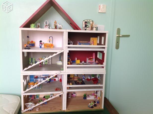 maison en bois artisanale avec playmobil liste no l ellie. Black Bedroom Furniture Sets. Home Design Ideas
