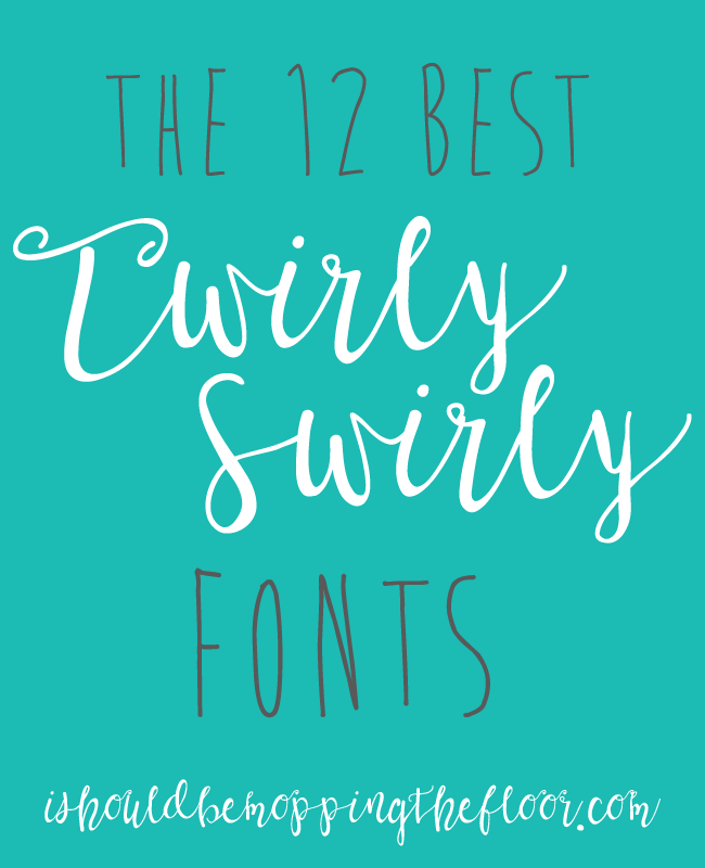 Free twirly fonts and easy