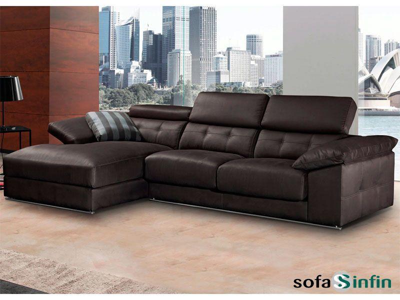 Sofá con chaise-longue modelo Tonic fabricado por Divani Star en ...