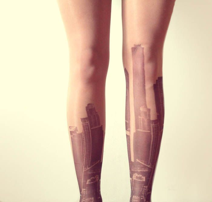 Tights with tattooes. EXAMPLE.PL