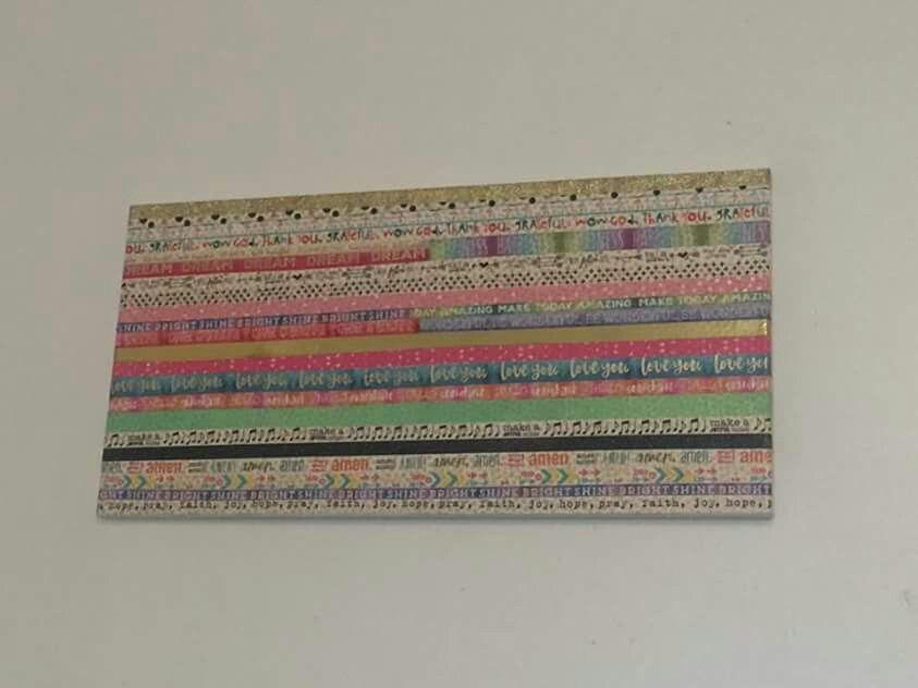 Washi tape on canvas