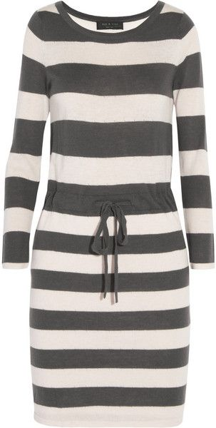 041cf1279af Rag   Bone Las Palmas Striped Merino Wool and Silkblend Dress - Lyst ...
