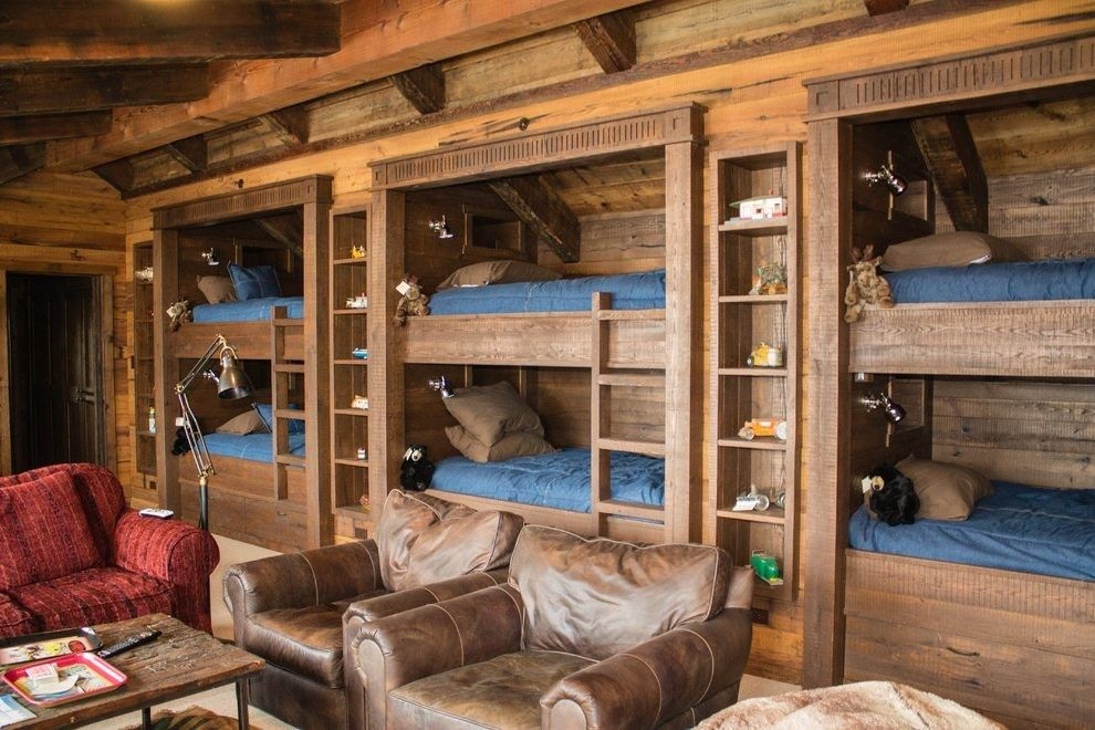 50+ Awesome Rustic Cabin Camp Bunk beds built in, Built