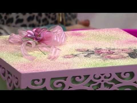 Mulher.com - 30/03/2016 - Pintura Decorativa (Caixa Texturizada) - Ana Gomes PT1 - YouTube