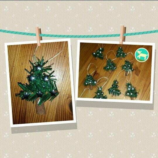 Tannenbaum als kleines Weihnachtsgeschenk oder Baumschmuck