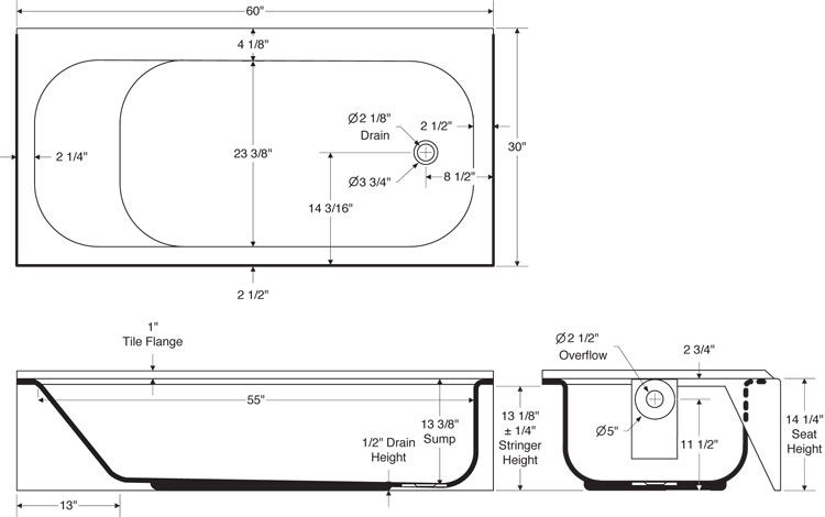 Bootzcast Drawing Bathroom Dimensions
