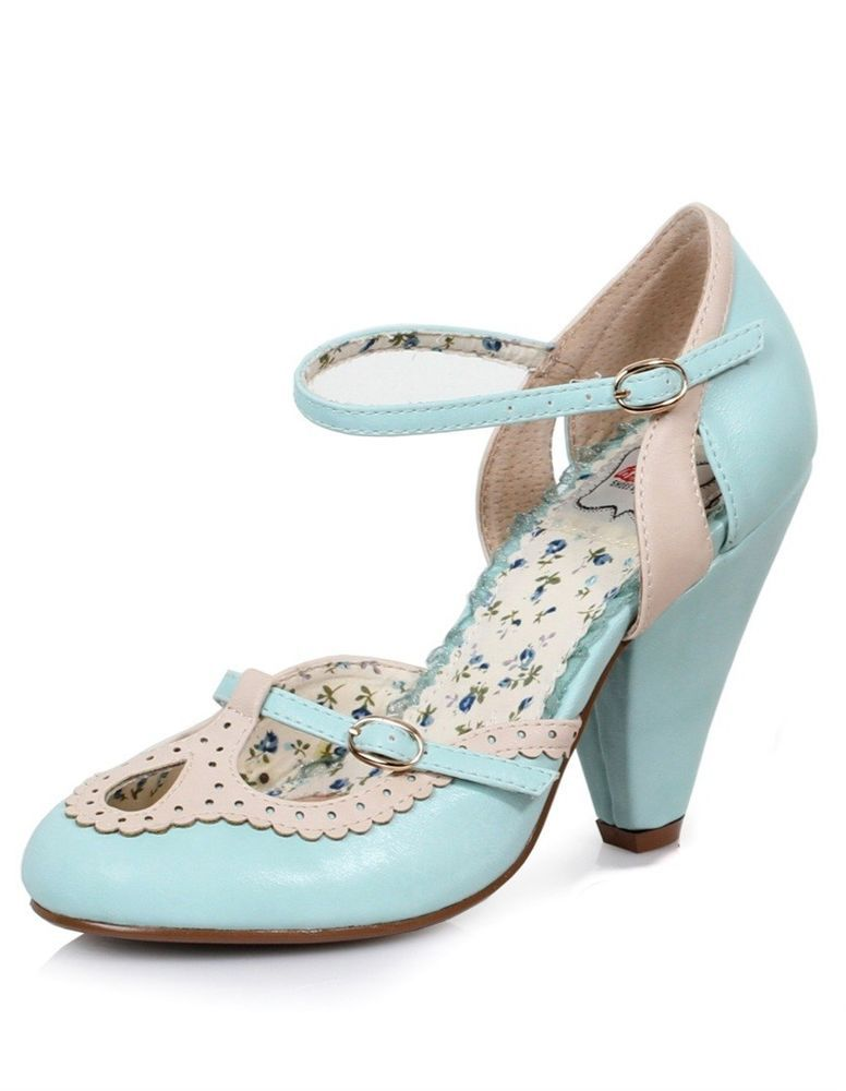 b398d684e7 Bettie Page by Ellie Alicia Shoes Light Blue 4