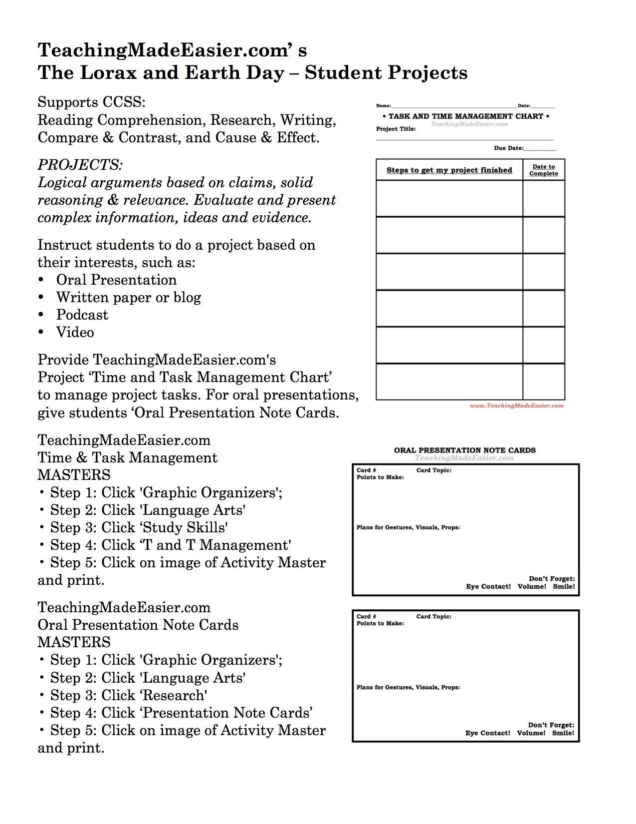 Worksheets The Lorax Worksheet Answers teachingmadeeasier com the lorax earth day activity tip seven student projects based on