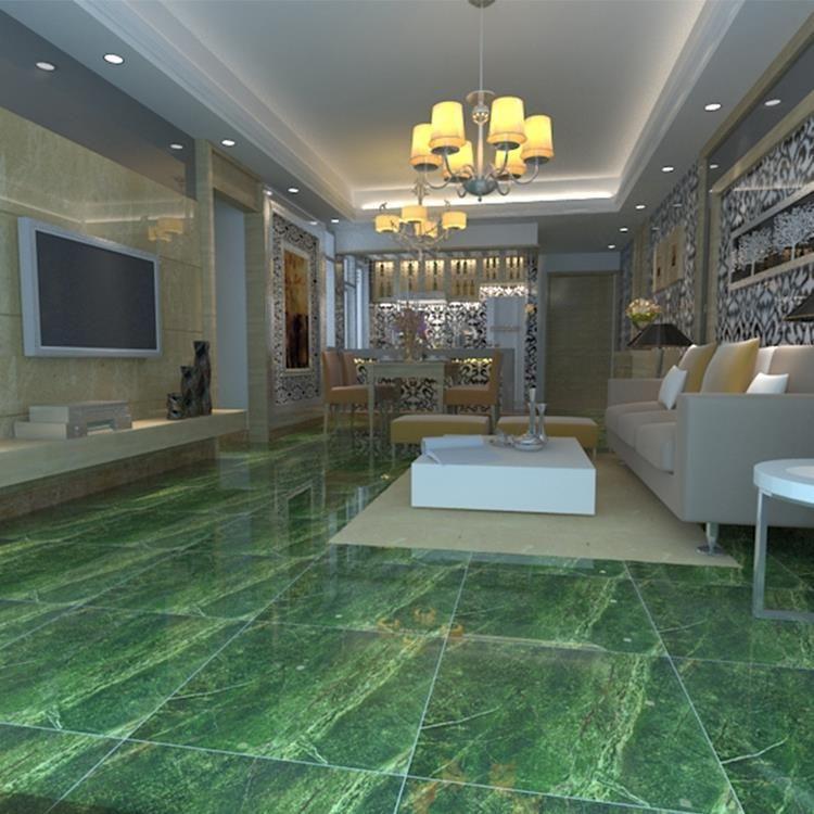 Green Polished Ceramic Floor Tile