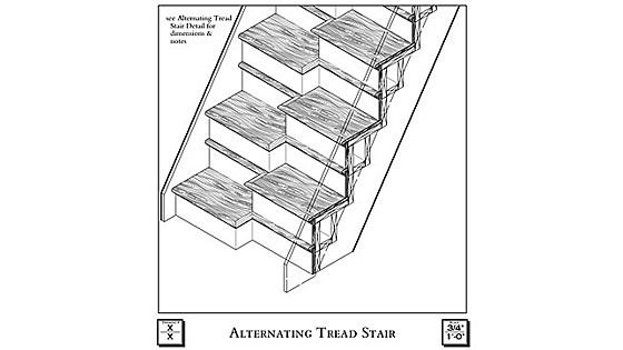 Alternate Tread Stairs In 2019 Tiny House Stairs Stair