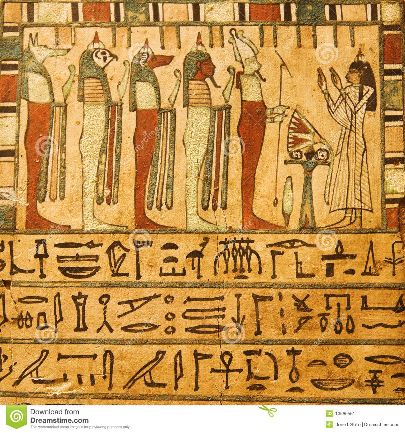 Ancient Egyptian Gods And Hieroglyphics With Images