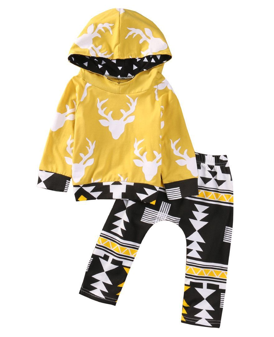 Yellow Deer Baby Boy Outfit