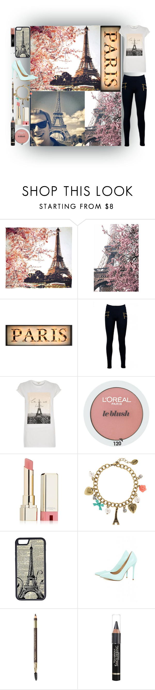 """""""Paris❤"""" by jazzybluerazzy ❤ liked on Polyvore featuring Fay et Fille, Aime, River Island, L'Oréal Paris, claire's, CellPowerCases and AX Paris"""