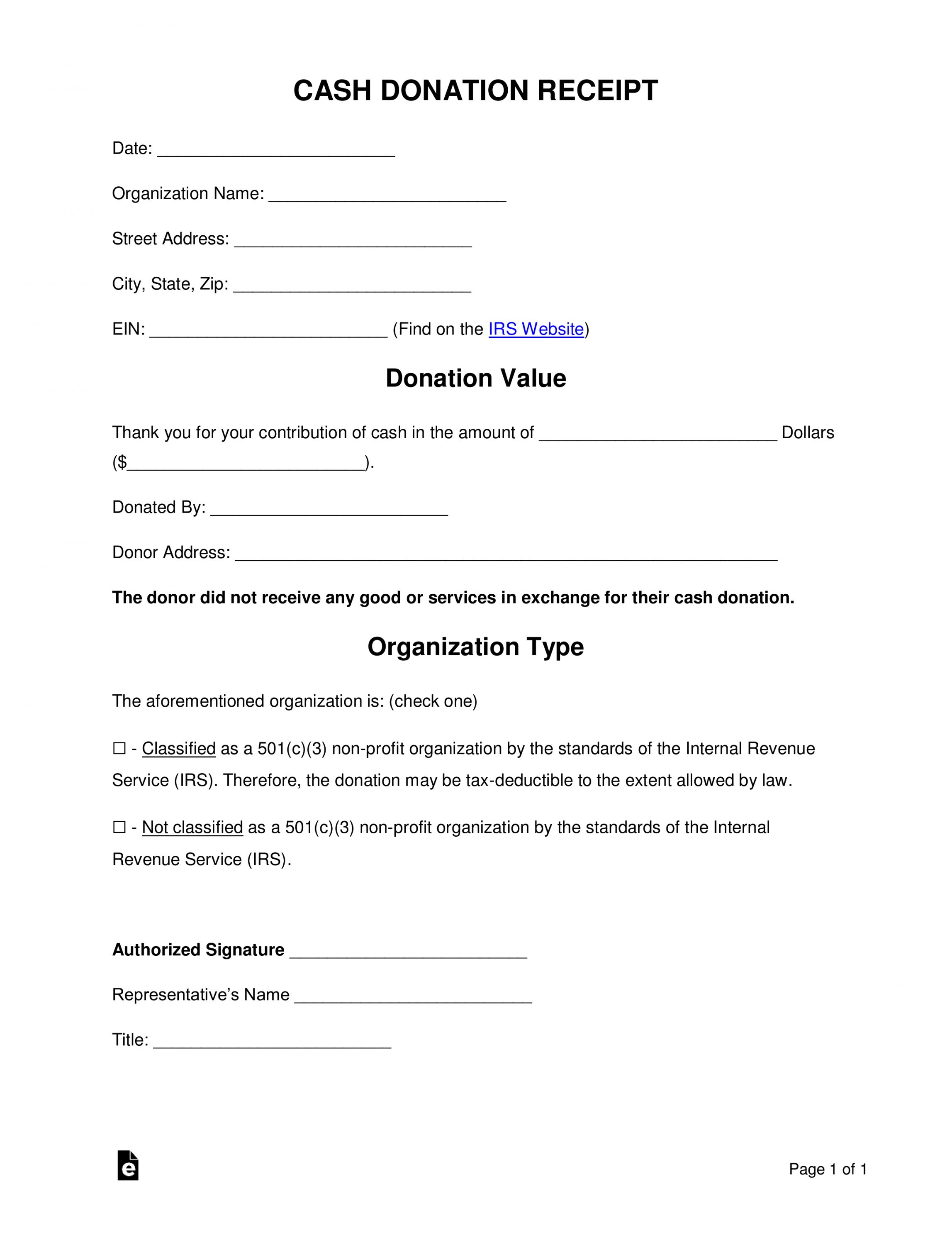 Explore Our Example Of Non Profit Contribution Receipt Template Receipt Template Irs Website Organisation Name