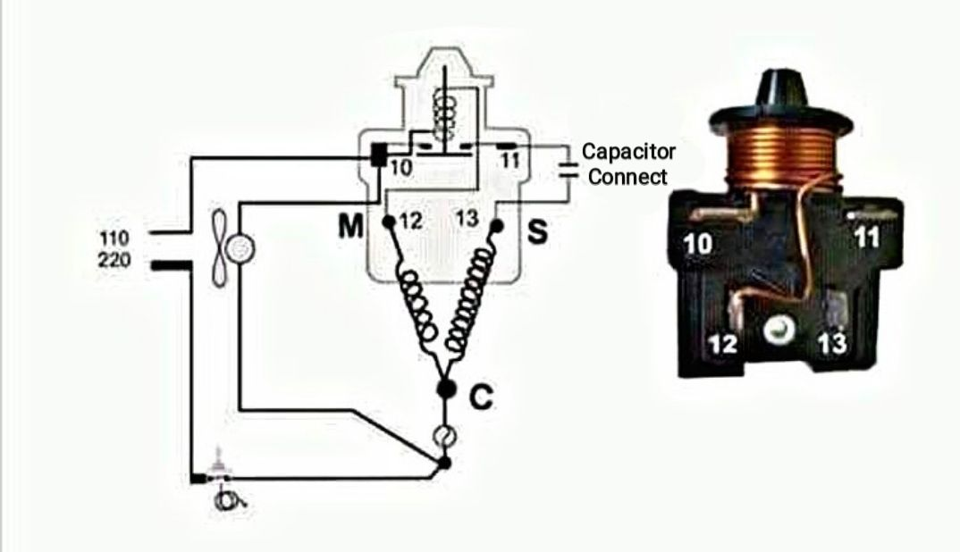 Danfoss Relay Oil And Capacitor Type Connection With