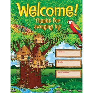 Scholastic TF2460 Jungle Treehouse Chart