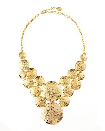 Hammered Disc-Link Necklace by R.J. Graziano at Last Call by Neiman Marcus.