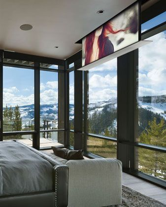 Master Bedroom Tv But The One That Flips Down So That It Can - Tvs in bedrooms design