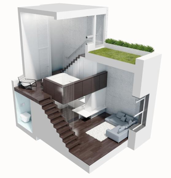 Home Design 500 Square Feet Part - 17: Home | COCOCOZY