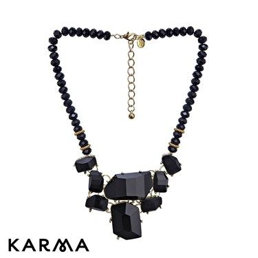 August Woods Black Abstract Necklace £15