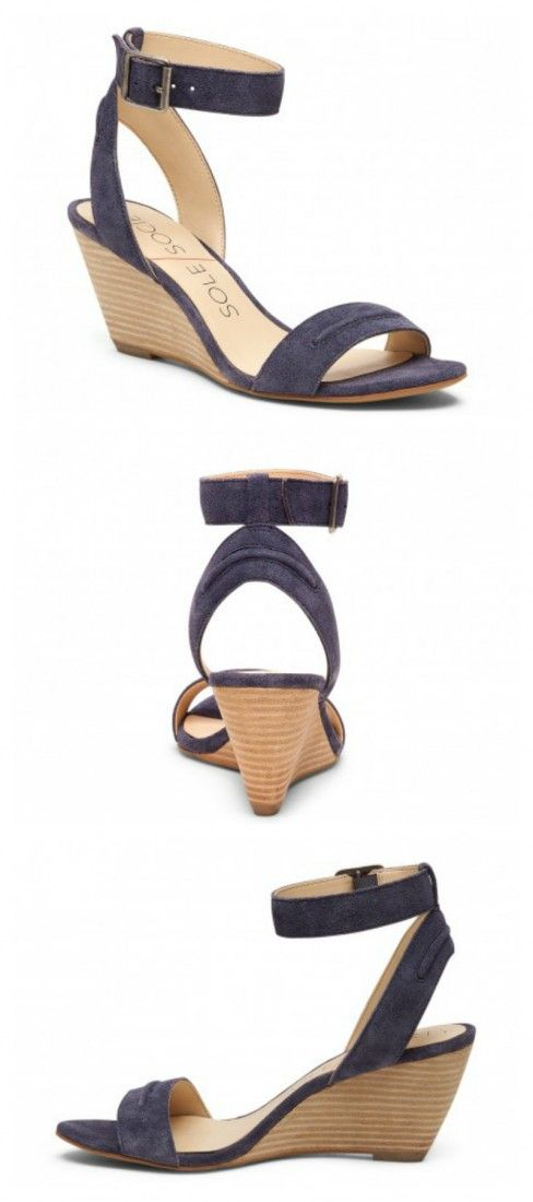 a3546ee7cd60 Luxurious suede wedge sandal with a comfortable 2.5