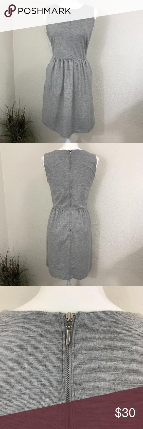 Paraphrase Gray Sleeveles Dres Pocket Sleeveless Grey Dress