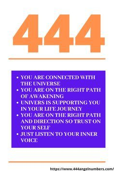 what do the numbers 444 represent