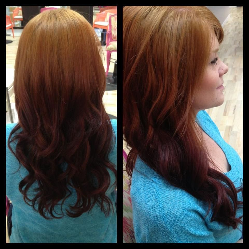 Red To Brown Reverse Ombre Hair Hair Stuffs Pinterest Hair