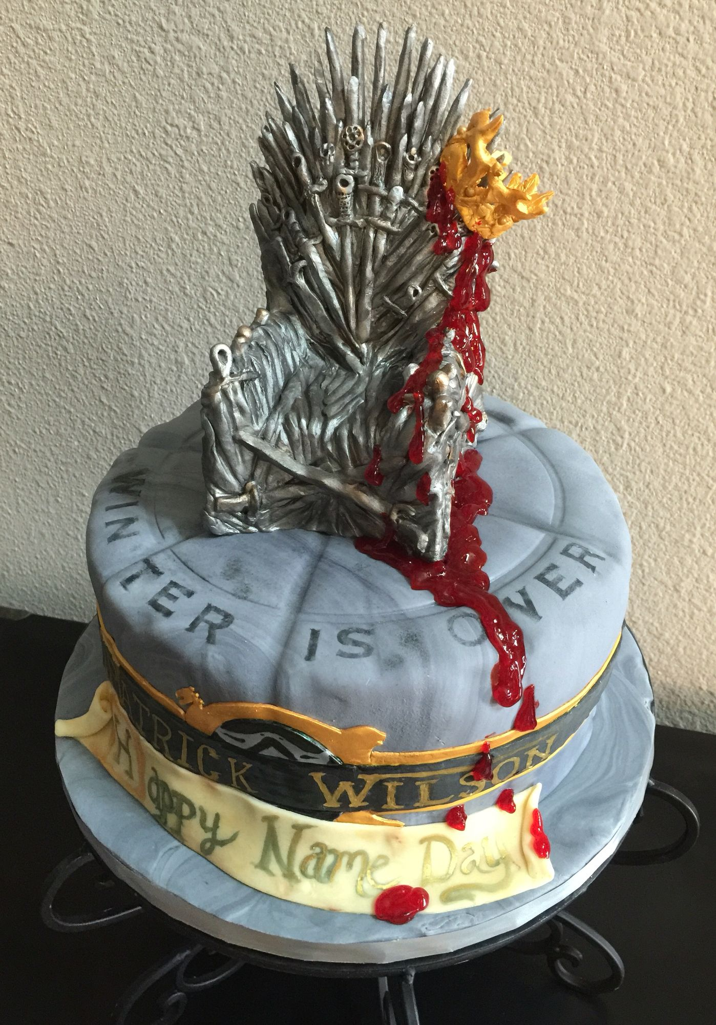 Game of thrones chair cake - The Iron Throne Cake From The Game Of Thrones