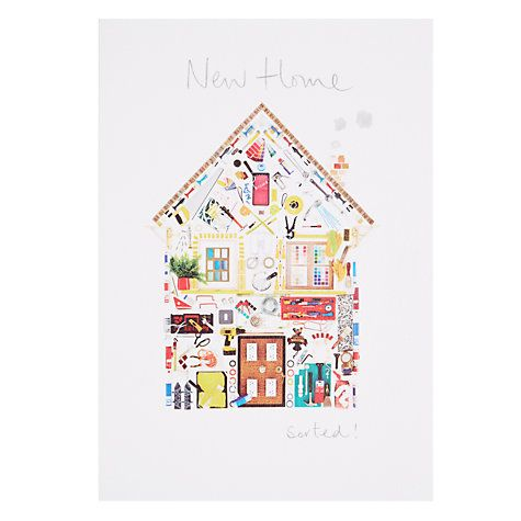 Woodmansterne house of diy objects new home greeting card m4hsunfo Gallery