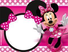 Plantilla Para Invitación De Mimi Fiesta De Minnie Mouse