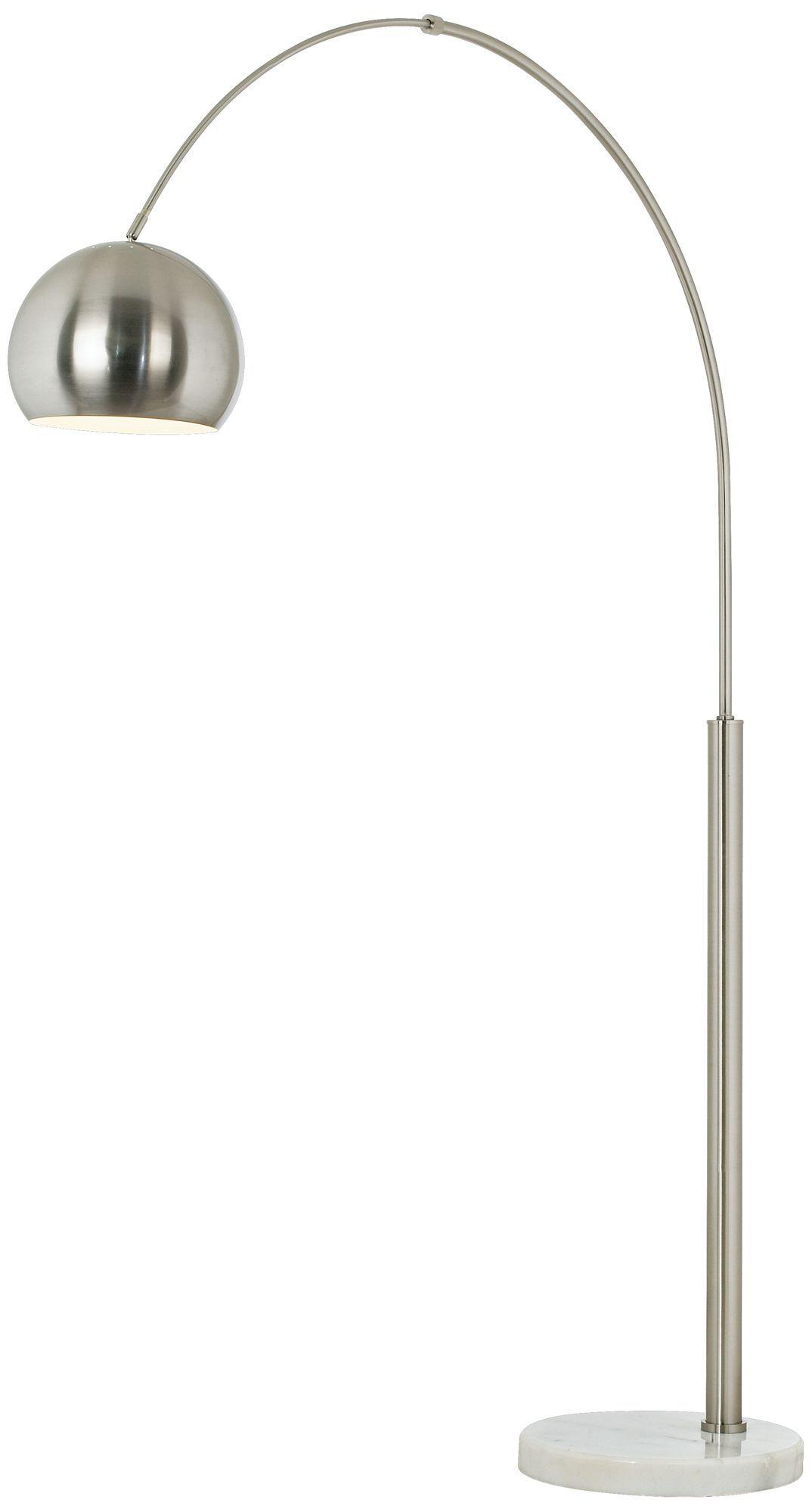 Basque Steel And Brushed Nickel Arc Floor Lamp Eurostylelighting Com A Living Room Arc