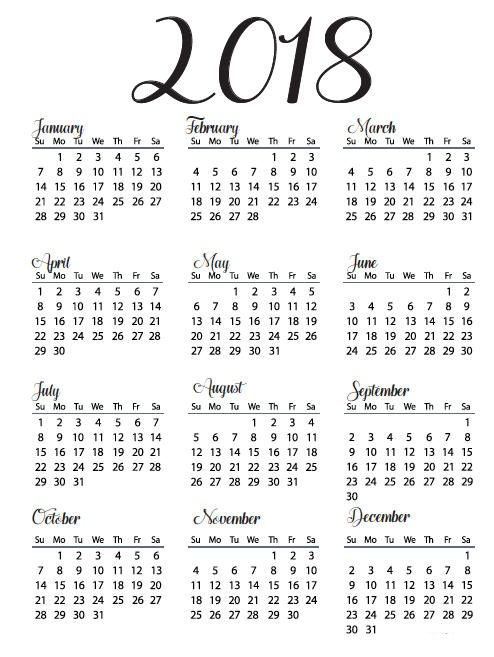 Printable Year Calendar freepsychiclovereadings