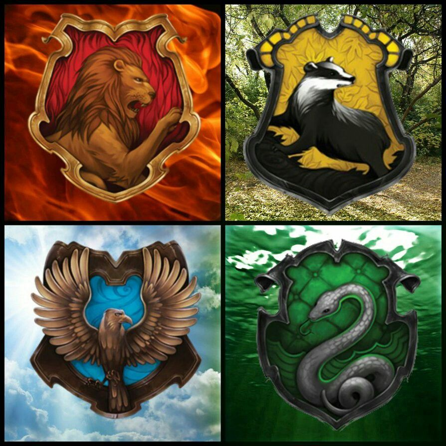 Hogwarts Hauses Whit Their Elements Harry Potter Bildschirmhintergrund Harry Potter Bilder Harry Potter Anime