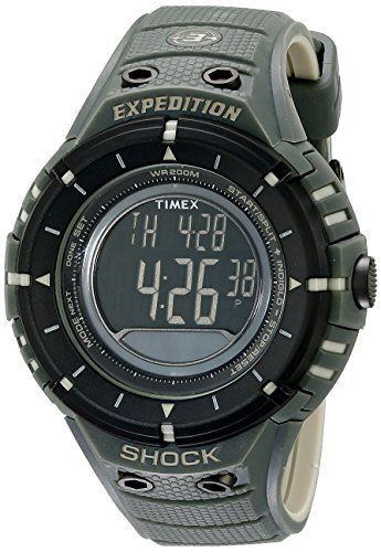 """6ec9872b9f53 Christmas Hunting Gift Idea  Timex Men s T49612 """"Expedition Trail Series""""  Black and Green"""