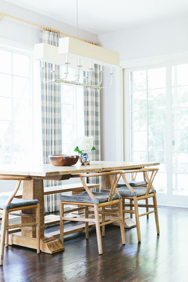 farmhouse table chairs dining room transitional interesting ideas