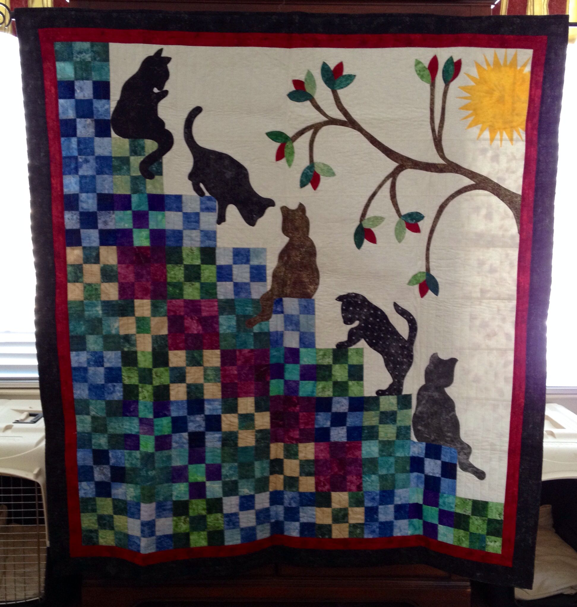 My version of stairway to cat heaven My Finished Quilts