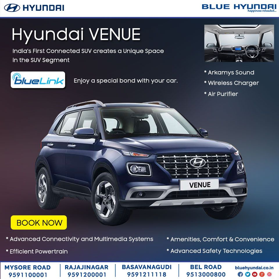 India's First Connected SUV HyundaiVENUE is coming soon