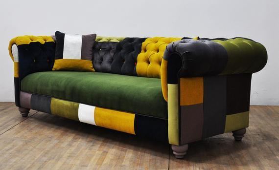 Chesterfield Patchwork Sofa Color Palette Avec Images Canape Chesterfield Canape Colore Canape Patchwork