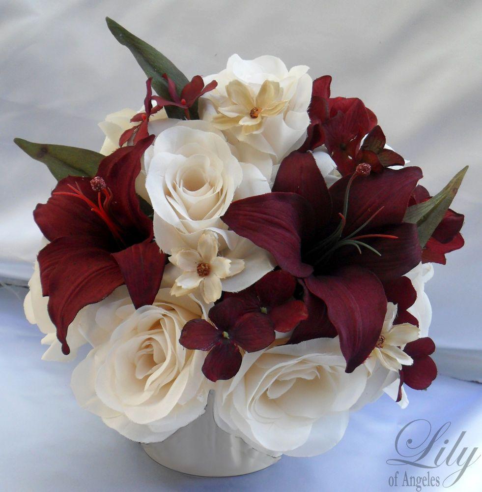 Wedding Flowers Cheap Ideas: Details About 4 Centerpieces Wedding Table Decoration